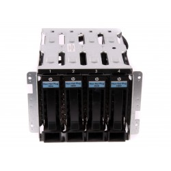 637214-001 HP ProLiant ML110 G7 SATA 4-Bay LFF HDD Cage + Adapter+4X Caddy