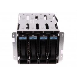 637214-001 HP ProLiant ML110 G7 SATA 4-Bay LFF HDD Cage + Adapter+4X Caddy