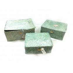 Kaemingk Set 3 ks úložných boxů, sv. mátová