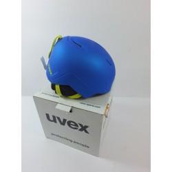 Lyžařská přilba Uvex MANIC PRO, modrá/zelená, vel. 46-51